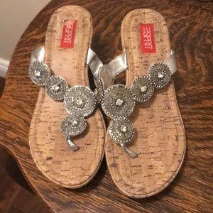 Silver Espirit Wedge Sandals
